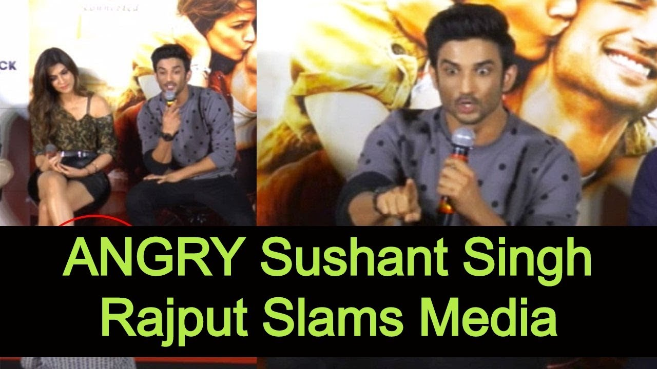 ANGRY Sushant Singh Rajput Slams Media   Sushant Singh Rajpoot Commits Suicide   Aaho