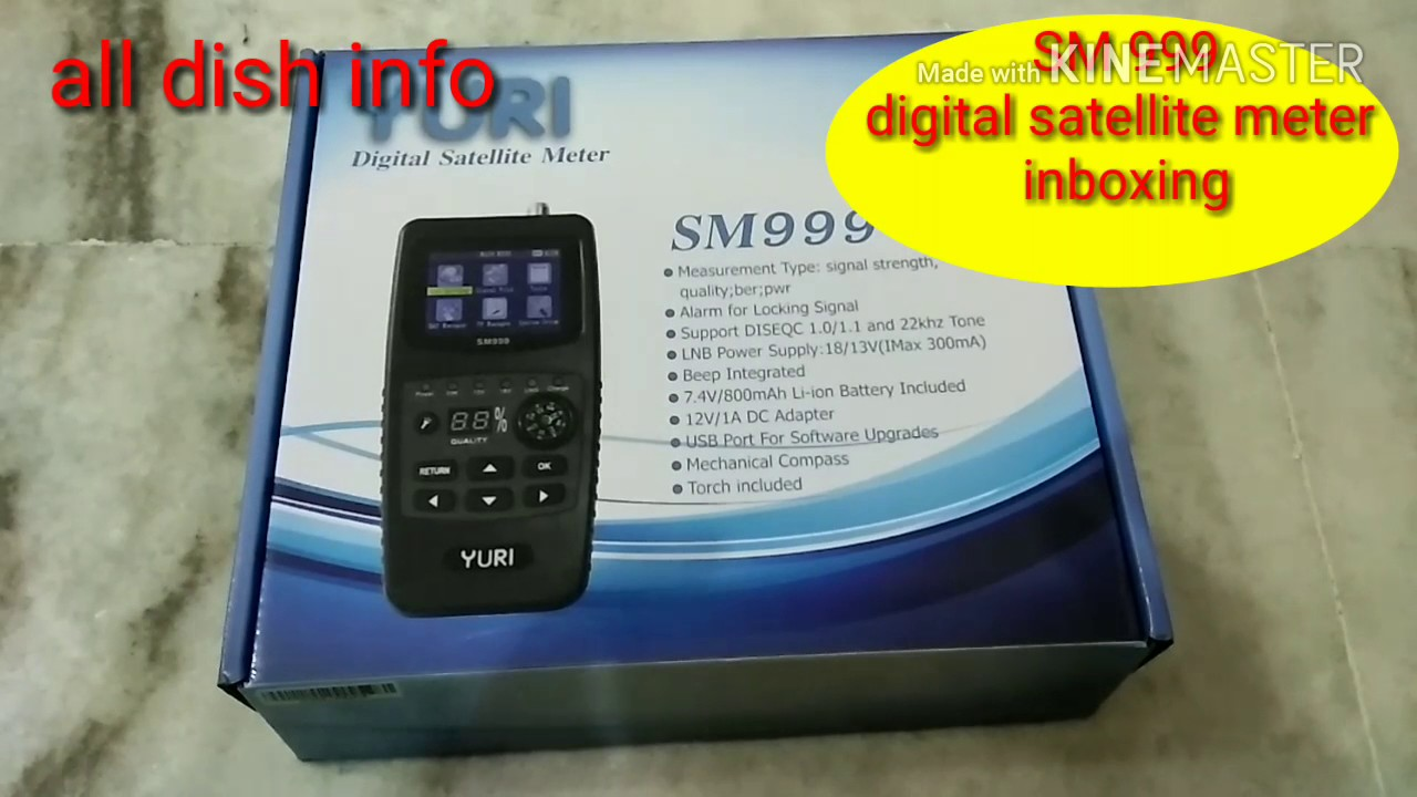digital satellite meter SM999 unboxing by ALL DISH INFO
