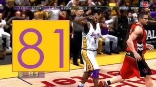 NBA 2K13 | Kobe Bryant Scores 81 Points