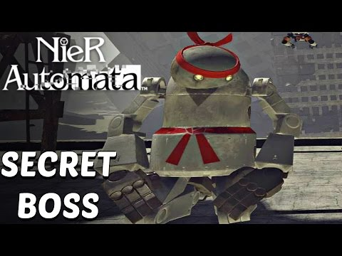 Nier Automata - Father Servo Final Form Boss Fight (Secret Ultimate Boss)