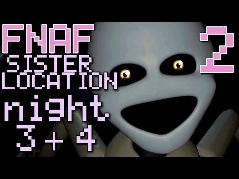 Five Nights at Freddy's: Sister Location - (COMPLETE MINIGAME, NIGHT 3 + 4)Manly Let's Play Pt.2