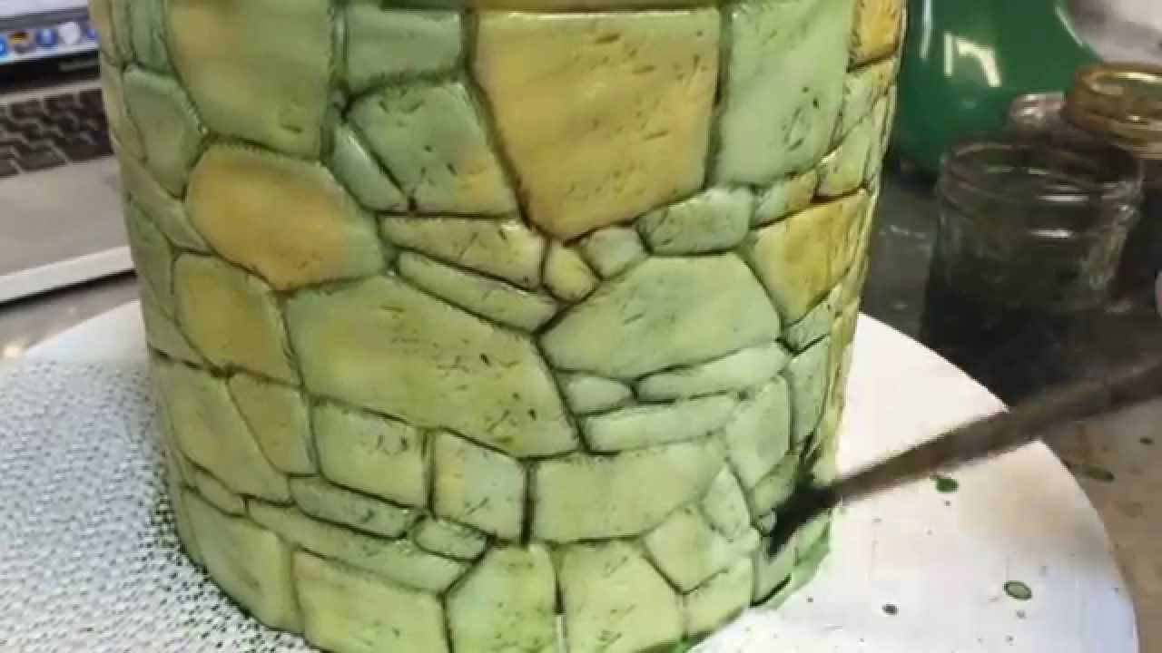 Realistic Stone Painting with Fondant and Food Coloring - YouTube