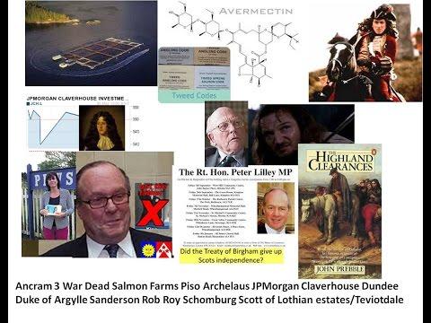 Ancram 3 War Dead Salmon Cage JP Morgan Claverer Dundee Argylle Sanderson Rob Roy Schomburg Scott of