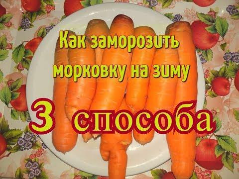 Как на зиму заморозить морковь на зиму в домашних условиях