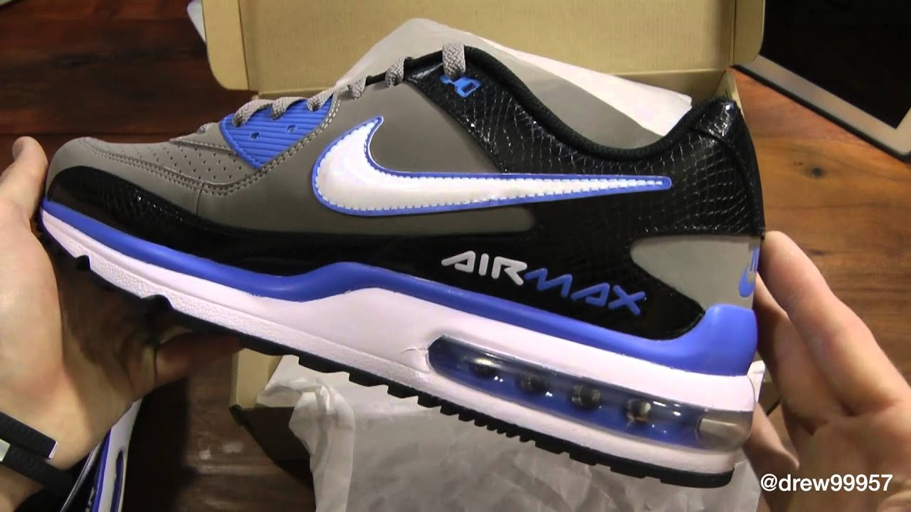 innovative design a6e0a d14a5 Nike Air Max Wright Sport Grey White Black Blue Unboxing