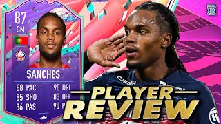 OMG!😱 5⭐ WEAK FOOT?!😍 87 FUT BIRTHDAY SANCHES PLAYER REVIEW! RENATO SANCHES FIFA 21 Ultimate Team