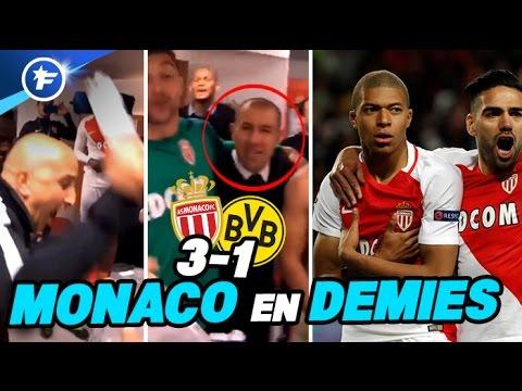 Les célébrations de Monaco après la victoire contre Dortmund | Ligue des Champions