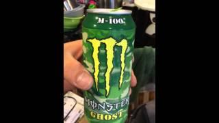 Monster Energy Ghost M-100 Drink First look and taste Jul/30/2015