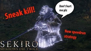Ghost corrupted monk Stealth kill! New Sekiro speed run strategy!
