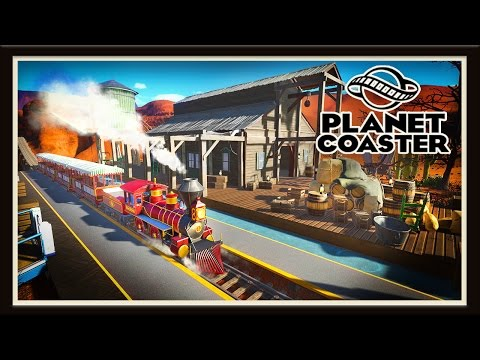 Planet Coaster: Building A Old West Steam Train Station  (Season 2 - part 4)