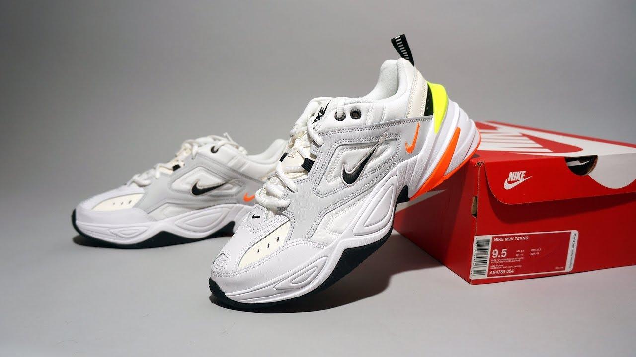 62ea670f4407 Nike M2K Tekno Pure Platinum Black-Sail-White AV4789-004 - YouTube