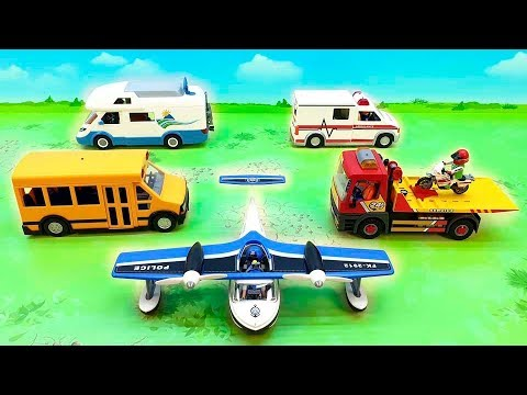Скорая помощь Автовоз и другие машинки в новом видео смотреть онлайн. Ambulance Police Cars For Kids