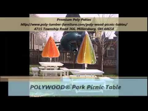 Premium Poly Patios Picnic Table - YouTube