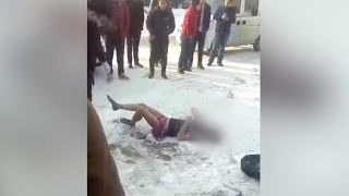 Drunk Young Man Froze To Death During Chinese Spring Festival Holidays