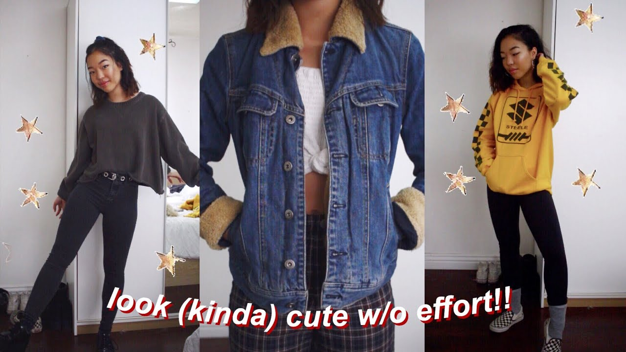 2440c893baf how to look cute with no effort    lazy day outfits - YouTube