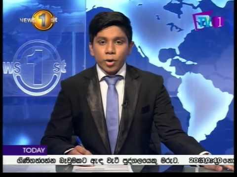 News 1st Prime time 8PM  Sinhala TV 01 22nd February 2016