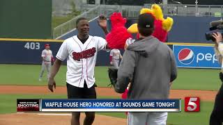 Waffle House Hero Honored At Sounds Game