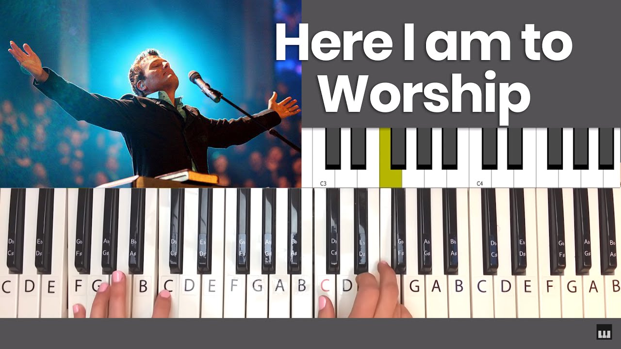 How to play here i am to worship piano tutorial youtube how to play here i am to worship piano tutorial hexwebz Choice Image