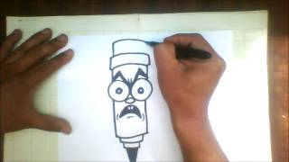 How to draw graffiti character   marker