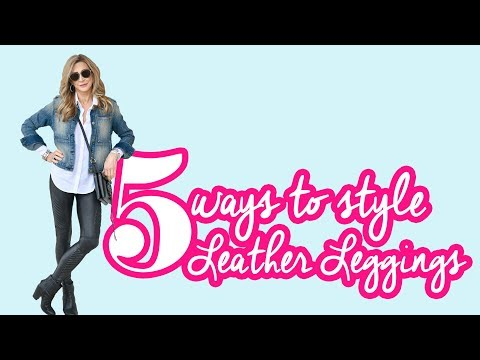 5 Ways To Style Spanx Faux Leather Legging Outfits - Crazy Blonde Life