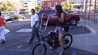 Los Angeles Pedal Assist Motorized Gas Custom Bicycles 2014