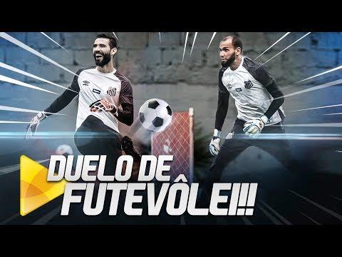 DESAFIO DE FUTEVÔLEI (🔥) DOS GOLEIROS DO SANTOS