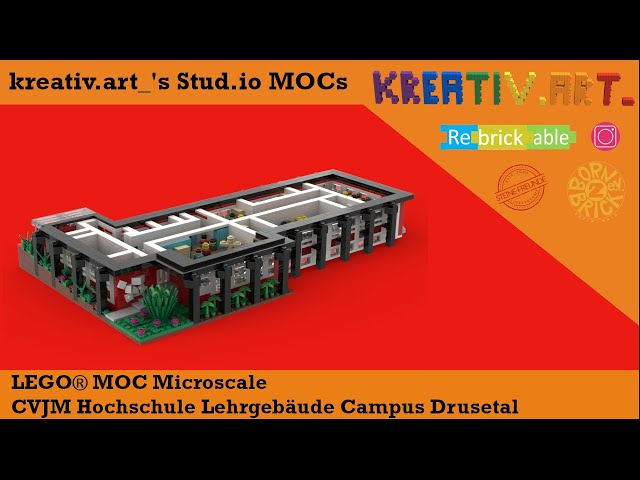 LEGO®  Microscale CVJM Hochschule Lehrgebäude Campus Drusetal | kreativ.art_'s Stud.io MOCs