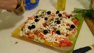 Шопский салат с брынзой! Кто не ел - МНОГО ПОТЕРЯЛ за столом!