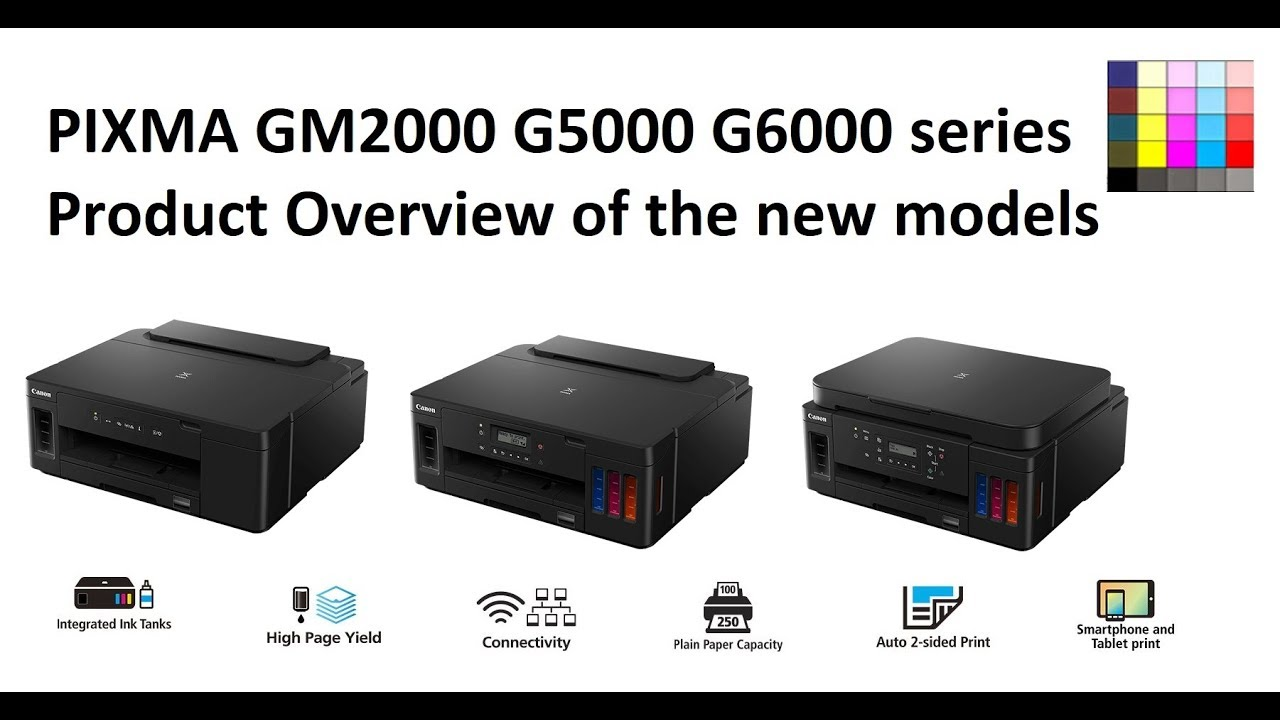 PIXMA GM2000 G5000 G6000 series - introduction to new G series 2019