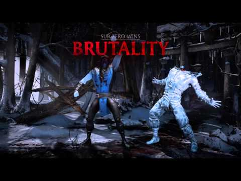 MKX: Sub-Zero's Fatalities,brutalities,and X-ray.