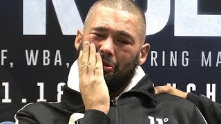 Tony Bellew Stopped By Oleksandr Usyk In Final Fight - Final Emotional Press Conference