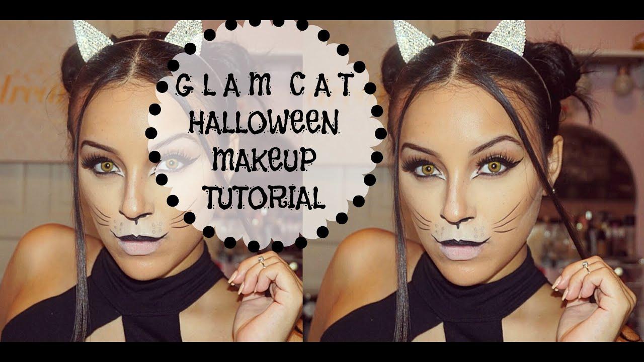SUPER EASY Glam Cat Halloween Makeup Tutorial | Victoria Sofia ...