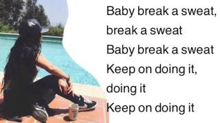 Becky G - Break A Sweat (lyrics)