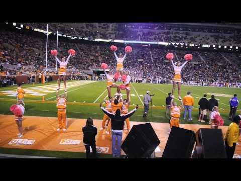 University of Tennessee Cheerleader Pyramid