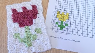In this week's tutorial I show you how to design your own C2C graphgan and how to adopt that into your crochet project, using a simple tulip design of mine as an example.  Grid paper can be found here on my website under resources: https://www.happyberry.co.uk/resources  Follow me on Instagram for extra treats! https://www.instagram.com/happyberrycrochet  Help support my channel on Patreon: https://www.patreon.com/happyberry  This pattern is in US terminology, but details are given for UK terminology.   © HappyBerry This pattern can not be reproduced in any way without credit given to HappyBerry. This includes copying and pasting into another blog or website, and filming the pattern for use on YouTube. You can however print it off for personal use or for use in an offline crochet group. Items made from any of my patterns can be sold in your own stores however. Patterns are not for re-sale. Thank you.