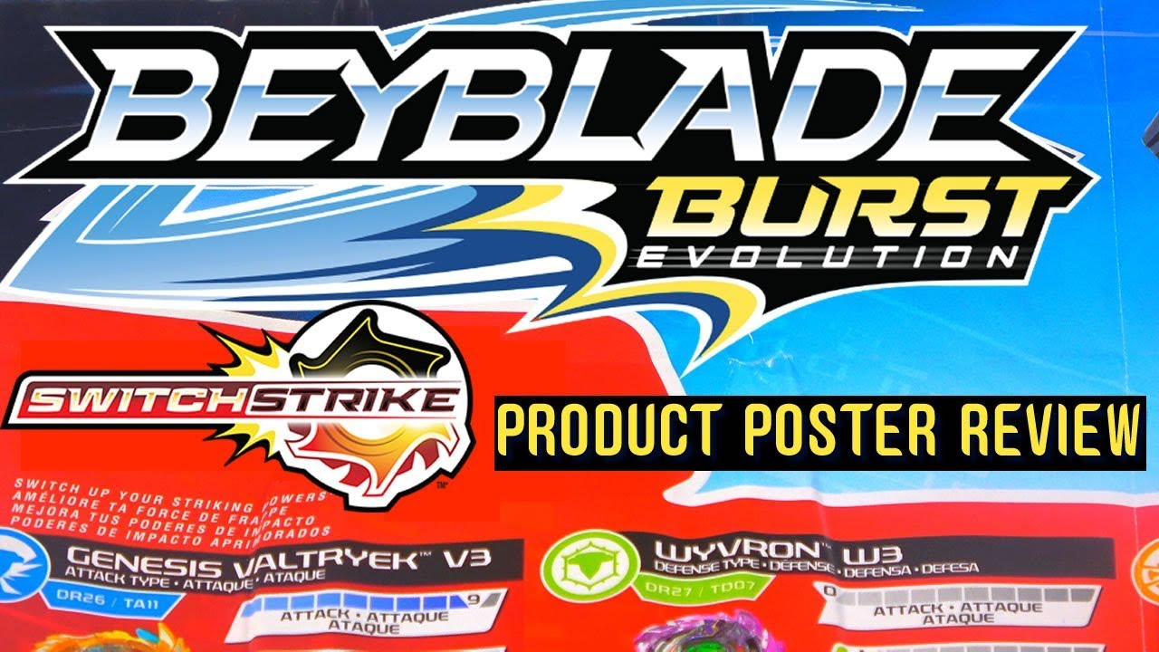 Beyblade Burst Evolution Switchstrike Product Poster Review Youtube
