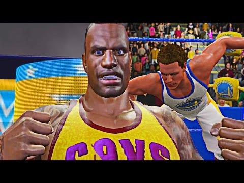 WWE 2K16 - Lebron James vs Steph Curry