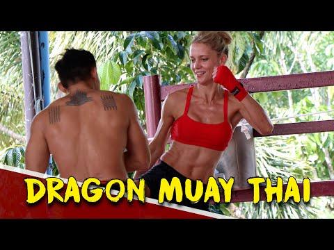DRAGON MUAY THAI PHUKET (ROBYN'S PRIVATE CLASS) | FITNESS STREET VLOGS