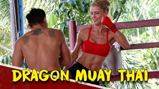 DRAGON MUAY THAI PHUKET (ROBYN'S PRIVATE CLASS) | FITNESS STREET VLOGS