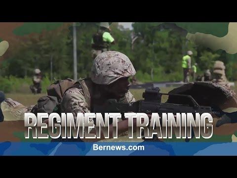 Bermuda Regiment  At Camp Lejuene , May 2015