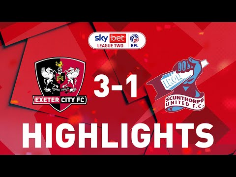 Exeter City Scunthorpe Goals And Highlights