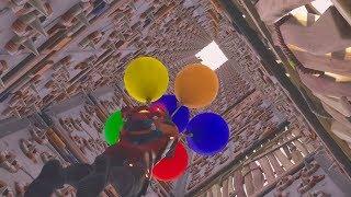 【フォートナイト】トラップタワーを風船で登ってみた!