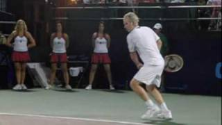 John McEnroe Play a Point in Slow Motion