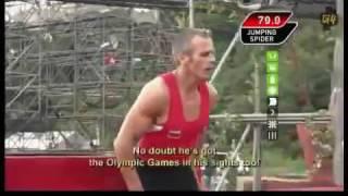 Bulgarian Yordan Yovchev in Ninja Warrior, Japan TV Show