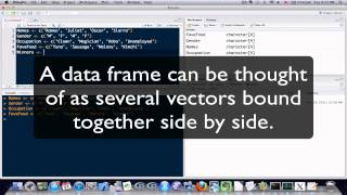 R Programming Tutorial Lesson 9: Making a Data Frame