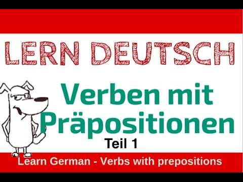 lerne deutsch verben mit pr positionen teil 1 von vor youtube. Black Bedroom Furniture Sets. Home Design Ideas