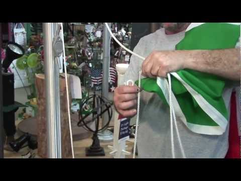 How To Replace A Rope When It Is On A Flag Pole