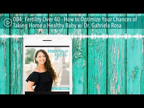 084: Fertility Over 40 - How to Optimize Your Chances of Taking Home a Healthy Baby w/ Dr. Gabriela