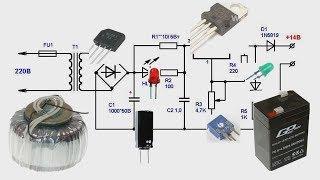видео Зарядное устройство для автомобильных аккумуляторов своими руками
