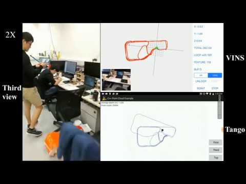 [Open Source] VINS-Mobile: Monocular Visual-Inertial state estimation compared with Google Tango